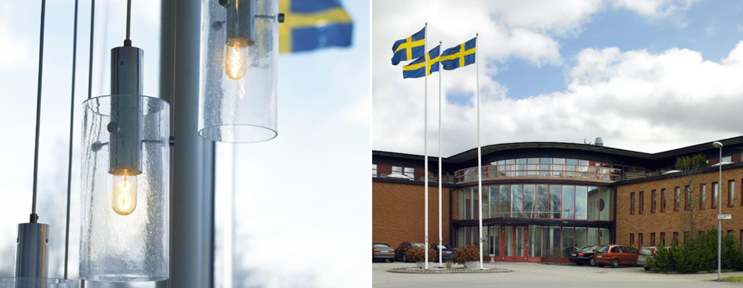Matting ABs huvudkontor på Tomasgårdsvägen 19 i Alingsås