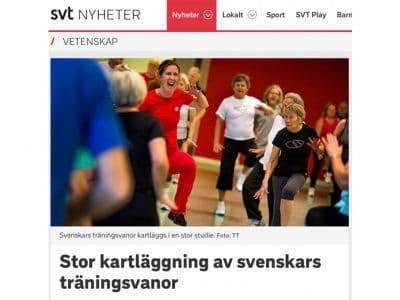 Stor kartläggning av svenskars träningsvanor
