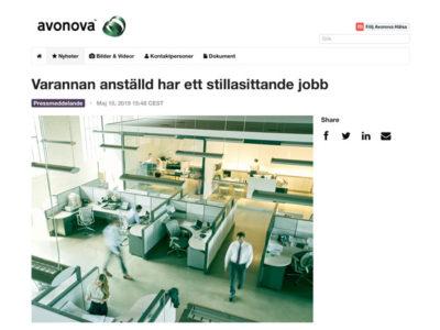Avonova - Varannan anstäld har ett stillasittande jobb