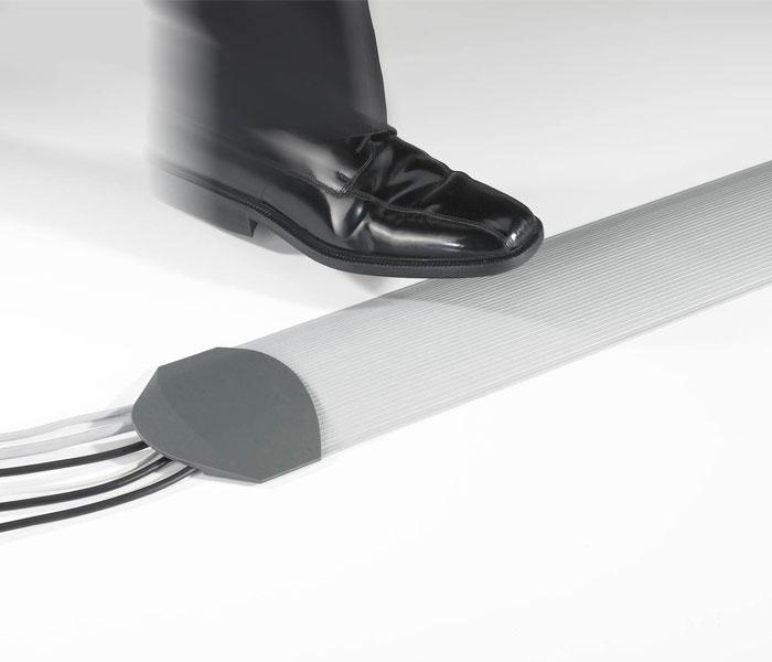 Matting Office Wellness - Kabelkanal ljusgrå