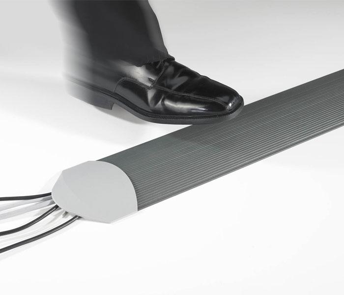 Matting Office Wellness - Kabelkanal mörkgrå