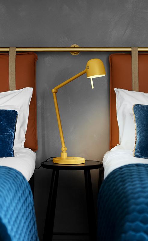 LightUp NEOS Sunset Gold som hotellbelysning.