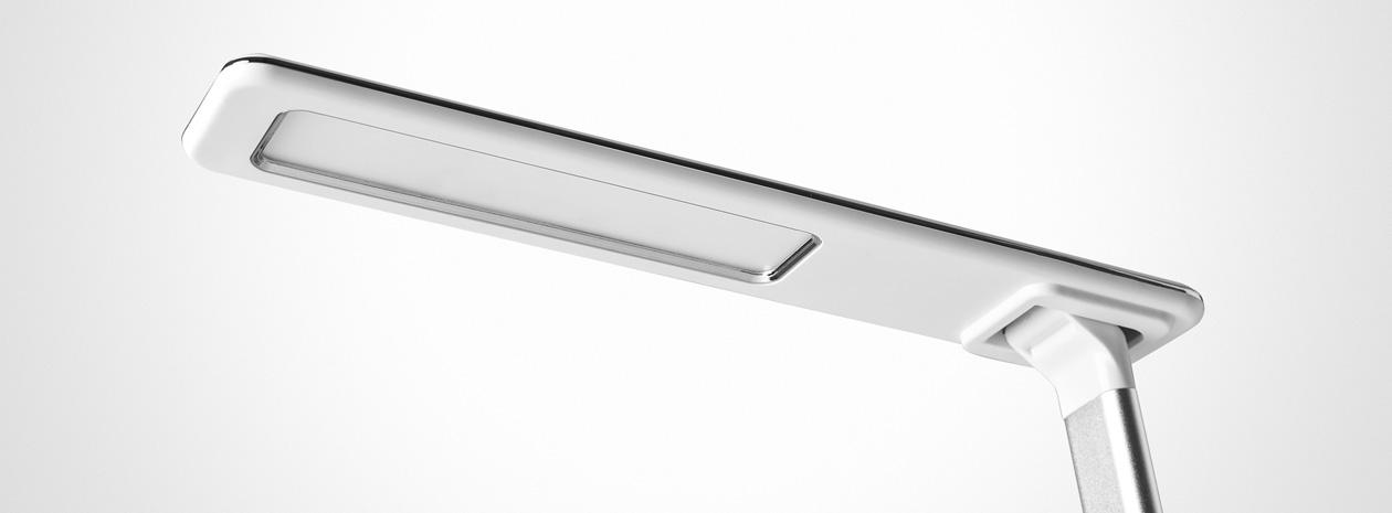 Matting Office Wellness - LightUp Singapore arbetsplatslampa LED, White 775741, närbild lamphuvud