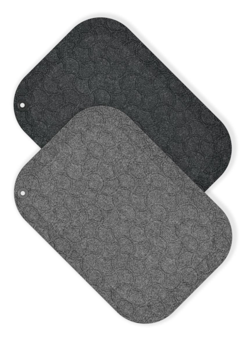 StandUp ORIGINAL ståmatta, grey och black