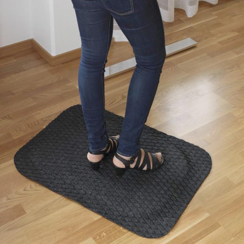 Arbetsplatsmatta Yoga Fashion svart art nr 381981. Ergonomisk ståmatta för kontor.
