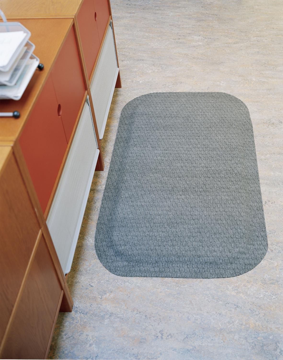Arbetsplatsmatta Yoga Fashion grå art nr 384980. Ergonomisk ståmatta för kontor.